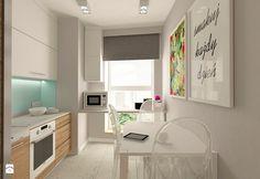 MIESZKANIE NA URSYNOWIE 85 M2 - Mała zamknięta kuchnia w kształcie litery l, styl nowoczesny - zdjęcie od design me too