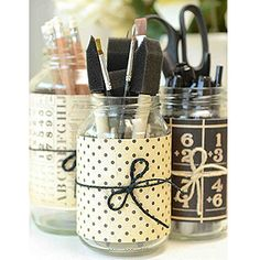 My to do list. Make some more of these. (recycle jars. Add scrapbook paper accents)