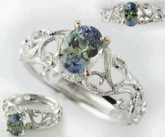 Tanzinite Ring, ohhh how I live tanzinite and vintage. SOOO pretty! Santa baby, I've been an awfully good girl this year :)