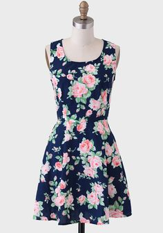 $48.99 the back is pretty Pleased To Meet You Floral Dress