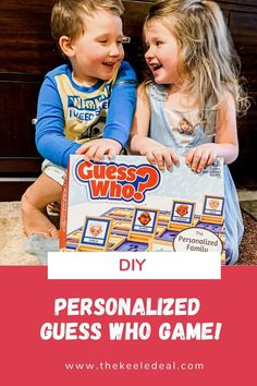 Custom Guess Who game for learning and fun. This DIY Guess Who? Personalized Game makes the perfect homemade gift. It's unique and easy to make.