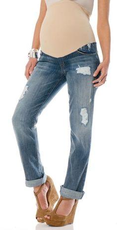 05ea3d0ff926f SOLD Design Lab Secret Fit Belly Cuffed Maternity Capri Jeans so cute! A Pea  in the Pod Maternity