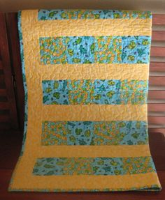 Baby Boy Quilt Lap Quilt Nursery Bedding Frogs by DesignsbyJuliAnn, $65.00