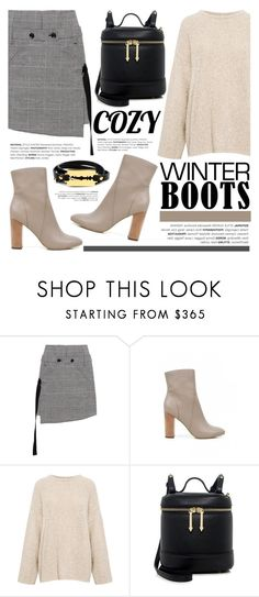 """""""So Cozy: Winter Boots"""" by ifchic ❤ liked on Polyvore featuring Marissa Webb, 10 Crosby Derek Lam, IRO, Karen Walker, McQ by Alexander McQueen, contestentry, winterboots and ifchic"""
