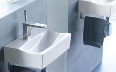 Bathco RHIN, Umywalka podwieszana, z relingiem x 30 cm , 4902 - Topsanit. Towel Rack Bathroom, Washroom, Toilet, Bathtub, Shelves, Inspiration, Home Decor, Sinks, Motivational