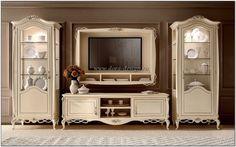 стенки для гостинной в классическом стиле - Поиск в Google Salon Furniture, Luxury Furniture Brands, Furniture Styles, Large Furniture, Furniture Design, Tv Stand Decor, Tv Decor, Home Decor, Small Living Room Design