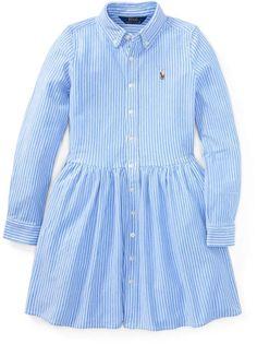 Ralph Lauren Striped Knit Oxford Shirtdress Harbor Island Blue/White S Dress Outfits, Kids Outfits, Dresses, Oxford White, Striped Knit, Baby Dress, Kids Fashion, Ralph Lauren, Blue And White