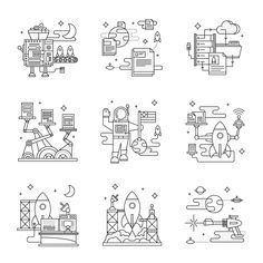 Practical Flask Book Illustrations Flat Vector - Dangerdom Studios