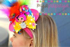 Lalaloopsy Mini Top Hat  Great for Birthdays by MyaPapayaBoutique. , via Etsy.