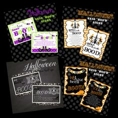 You've Been Boo'd Signs - Lots of free printables for many occasions.  Valentine's, Halloween, birthday, and favor boxes - templates for printable decor