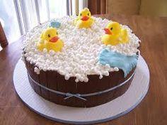rubber ducky baby shower bubble bath cake