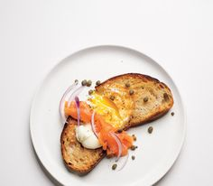 Egg-In-a-Hole With Smoked Salmon