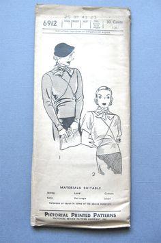 Pictorial Pattern 6912 Vintage Dress Sewing Pattern by Fancywork
