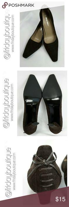 "New in Box - Nine West Heels Brown Suede 3 1/4"" heel. Never worn. In box Nine West Shoes Heels"