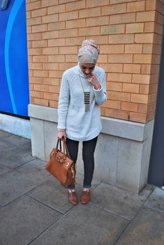oxfords, oversized sweater