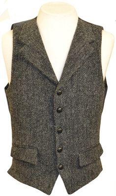 Mens Waistcoat | Charcoal Herringbone