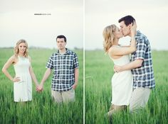 © Anna Lee Media | Oklahoma Engagement Photographer, couple pose, tall field