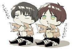so cute >w< - Shingeki no Kyojin; Levi; Eren Jäger