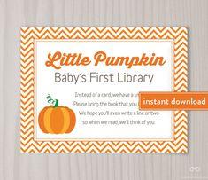 Little Pumpkin Book Request Card Pumpkin Baby by DearHenryDesign