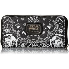 Loungefly Star Wars Storm Trooper Bandana Wallet ($29) ❤ liked on Polyvore featuring bags, wallets, zip-around wallet, loungefly wallet, loungefly bags and loungefly