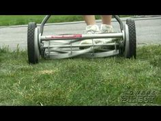 How to Sharpen  Lawnmower Blades. early English Qualcast mower. - YouTube