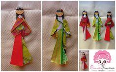 Gueixa Origami (marcador de livro)   Há muito queria fazer e…   Flickr