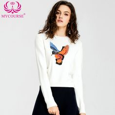 Find More Pullovers Information about MYCOURSE Autumn Round Neck Long Sleeve Pullover Fashion Bird Embroidered Women Slim Knitted Sweater Embroidered Sequin Sweater,High Quality sweater long,China sweater vest Suppliers, Cheap sweater pants from MYCOURSE Classic Store on Aliexpress.com