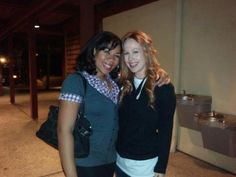 With fans after Rent at the Welk Theatre