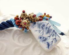 Broken China Freeform beadwork beauty!