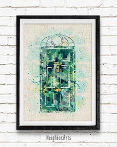Sherlock Holmes Poster 221B Baker Street by NeighborArts on Etsy