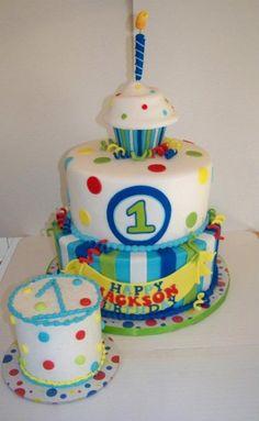 Boy 1st birthday Cupcake theme... I love cupcakes!