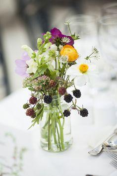 Summer mason jar florals captured by Christina Brosnan | onefabday.com