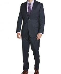 Big & Tall Calvin Klein® Mini Neat Nested Suit. Tall Clothing at PrettyLong.com Tall Men Fashion, Mens Fashion, Tall Clothing, Tall Guys, Big & Tall, Calvin Klein, Suit Jacket, Suits, Mini