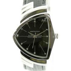 【中古】HAMILTON(ハミルトン) H244110 ベンチュラ クオーツ SS カーフ メンズ ブラック文字盤時計/インパクトあるデザインがおしゃれ!カジュアルからフォーマルと幅広いシーンで活躍する人気ウォッチです。/新品同様・極美品・美品の中古ブランド時計を格安で提供いたします。/¥59,800