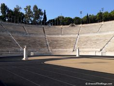 Surrounded by towering pines, Panathenaic Stadium becomes a quiet pocket in busy Athens. Olympic Games, Athens, Olympics, How To Become, Photo Galleries, Tower, Pocket, London, Running