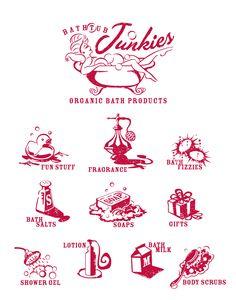 Bathtub Junkies Branding