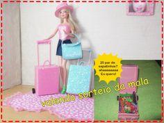 Como fazer mala de viagem para Barbie (atualizada), e valendo sorteio
