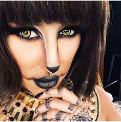 Chrispy Egyptian cat (Bastet) make up .