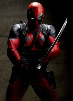 Deadpool cosplay-the texture of costume looks amazing.