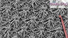 Видео урок вязание крючком - Морские ежи - узор крючком. Схема и фото тут - http://ellej.org/uzory/sea-urchins/ How to crochet Sea urchins crochet stitch. ╔═...