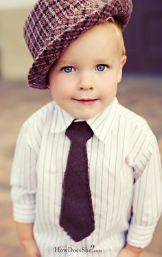 seriously? hat and tie for a toddler is a must! pair it with jeans.