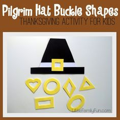 Great Thanksgiving activity for kids! Fun way to review shapes this Thanksgiving season! So easy to make and do!