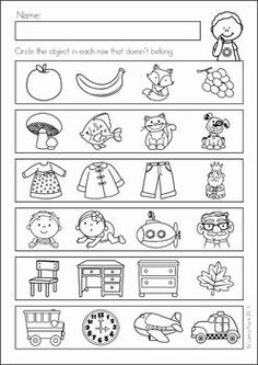 Back to School Math & Literacy Worksheets and Activities No Prep Pre K Worksheets, Printable Preschool Worksheets, Kindergarten Math Worksheets, Math Literacy, Preschool Learning Activities, Preschool Curriculum, In Kindergarten, Preschool Activities, Kids Learning