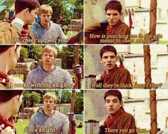 Gotta love Merlin and Arthur, best of friends, who fought like brothers.
