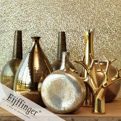 Goud behang, Chic 322032 bij Behangwebshop