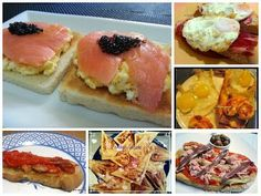 Ideas que mejoran tu vida Breakfast Toast, Breakfast Snacks, Tostadas, Food Dishes, Finger Foods, Catering, Food To Make, Brunch, Food And Drink