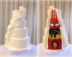 This Marvel-ous wedding cake isn't everything it seems #weddingcake #compromise