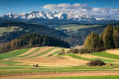 Tatra Mountains seen from Pieniny Mountains, Poland The Beautiful Country, Beautiful Places, Polish Mountains, Visit Poland, Tatra Mountains, Europe, Historical Monuments, Mountain Landscape, Cool Landscapes