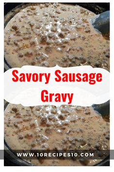 Savory sausage gravy, a specialty among country folk, is best served ladled over fresh hot biscuits. It's also one of those dishes that can be served for breakfast, … Ingredients: 1 lb … Sausage Crockpot Recipes, Breakfast Crockpot Recipes, Cooking Recipes, What's Cooking, Sage Sausage, Savoury Biscuits, Biscuits And Gravy, Cream Gravy, Salvia