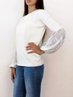 MIMI MUA AFI83038 MAGLIA DONNA BIANCA collezione 2018 moda invernale  maglione  e19039a28f7